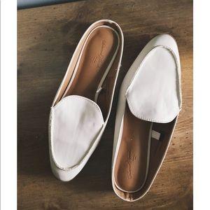 Cream Loafer Slide-Ons New